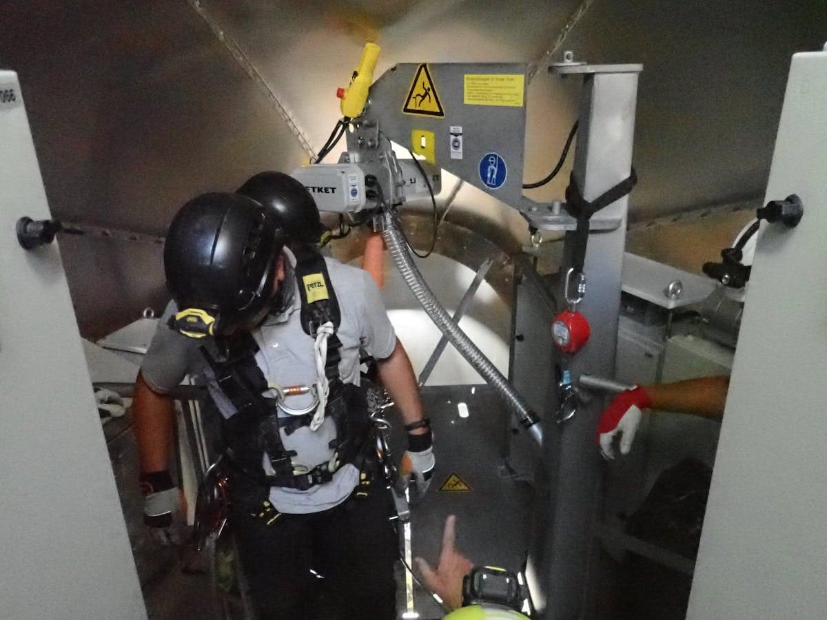 Schulung Rettungsmassnahmen in engen Räumen